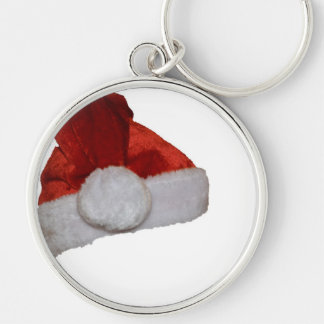 Santa Hat Red Christmas Holiday Office Party Key Chain