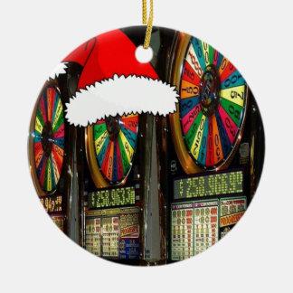 Santa Hat Slot Machines Christmas Ornament