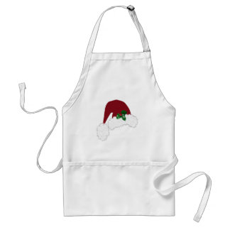 Santa Hat with Holly Apron