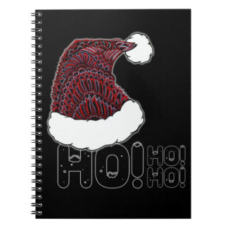 Santa Hat with Text Notebooks