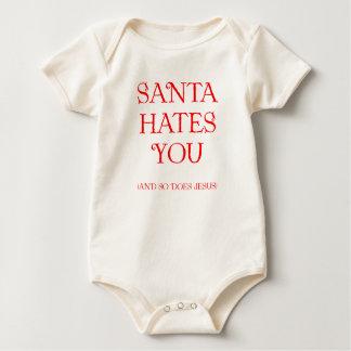Santa Hates You Baby Bodysuit