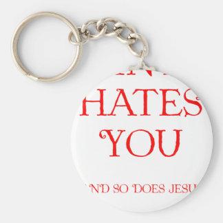 Santa Hates You Basic Round Button Key Ring