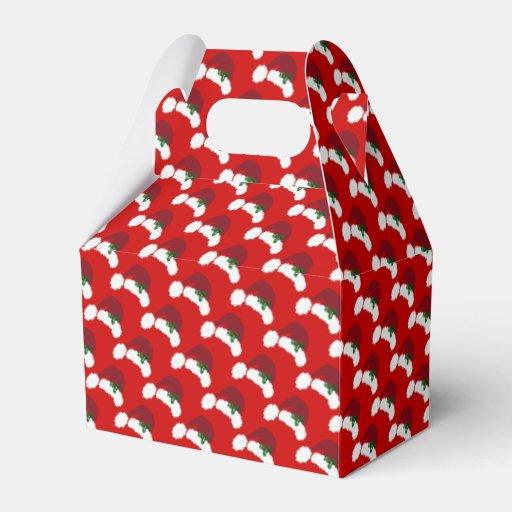 Santa Hats with Holly Gable Favor Box
