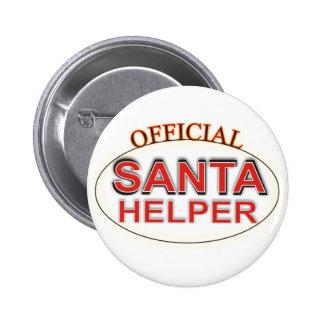 Santa Helper 6 Cm Round Badge