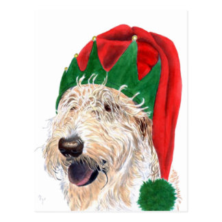 Santa Helper Labradoodle Post Cards