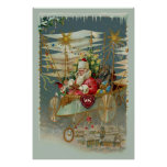 Santa & His Amazing Flying Machine Poster