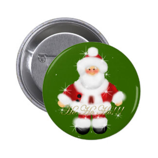 Santa Ho Ho Ho!!!! 6 Cm Round Badge