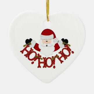 Santa Ho Ho Ho Christmas Ornament