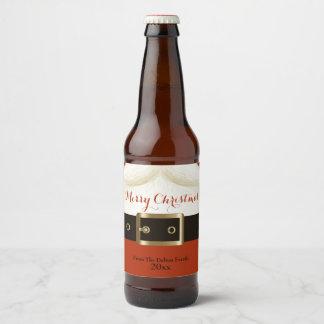 Santa, Ho Ho Ho, Merry Christmas Beer Bottle Label