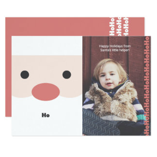 "Santa ""Ho"" Illustration Holiday Photo Card"