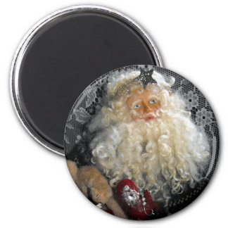 Santa Holding Toys 6 Cm Round Magnet