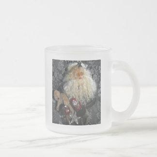 Santa Holding Toys Frosted Glass Mug