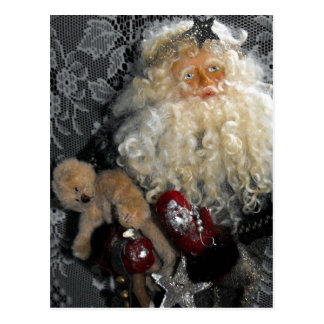 Santa Holding Toys Postcard