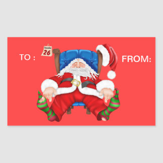 SANTA Holiday SEAL Personalize Stickers