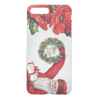 Santa Holly Wreath Poinsettia Present Dec 25th iPhone 7 Plus Case