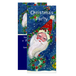 SANTA,HOLLYBERRY CROWNS CHRISTMAS PARTY Programme Card