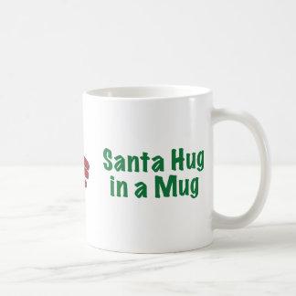 Santa Hug in a Mug - White Mug