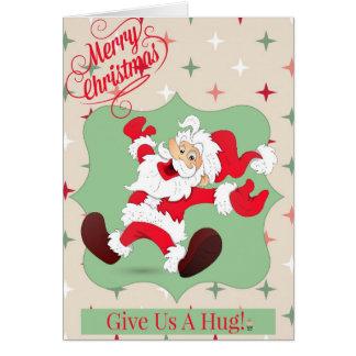 Santa Hug Vertical Card