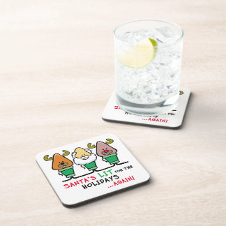Santa Humor Beverage Coasters