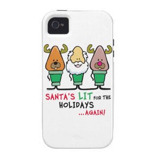 Santa Humor Vibe iPhone 4 Covers