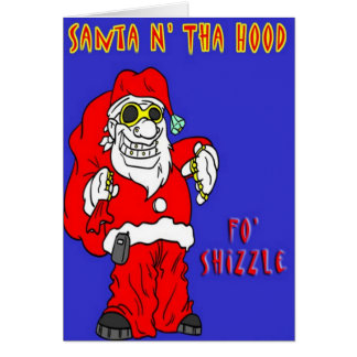 Santa Humor Christmas Card