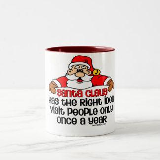 Santa Humor Two-Tone Mug