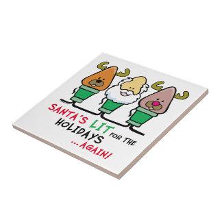 Santa Humor Small Square Tile