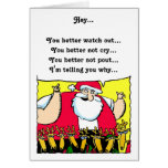 Santa Humourous Christmas Card