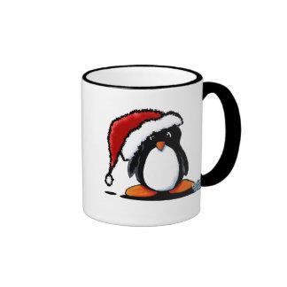 Santa Humphrey Penguin Totes & Gifts Ringer Coffee Mug
