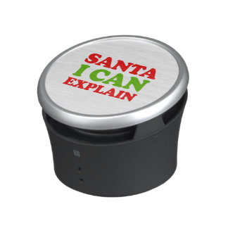 Santa I can explain -- Holiday Humor Bluetooth Speaker