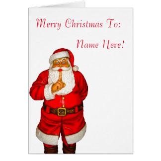 Santa image for Christmas Greeting Card