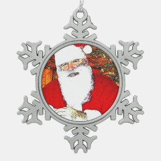 Santa image for Pewter-Snowflake-Decoration Snowflake Pewter Christmas Ornament