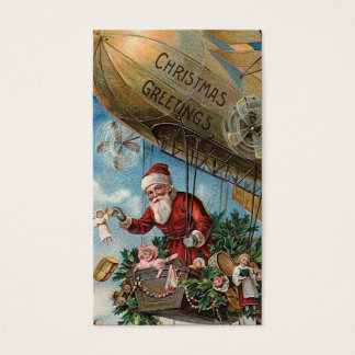 """Santa in a Blimp"" Gift Tag"