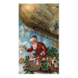 """""""Santa in a Blimp"""" Gift Tag Pack Of Standard Business Cards"""