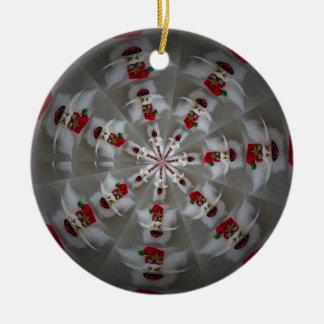 Santa In A Spin ornament