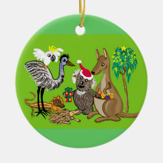 Santa in Australia Christmas Ornament