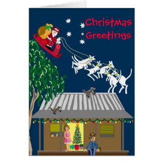 Santa in Australia Greeting Card