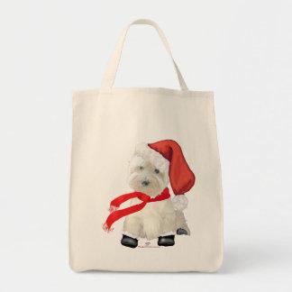 Santa in Boots Tote Bag