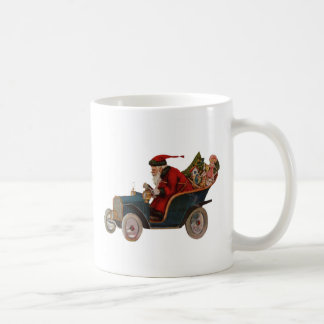 Santa in Car Mug