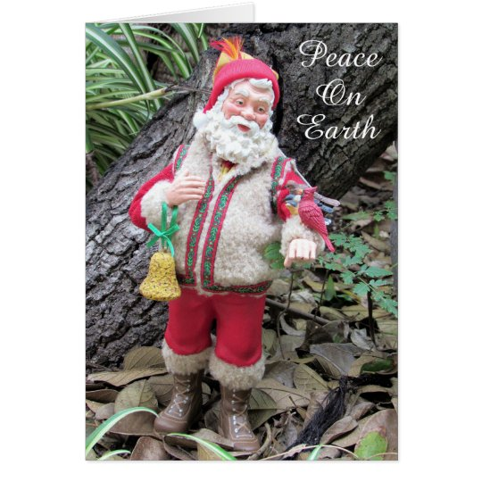 Santa in Nature (3066) - with birds Card