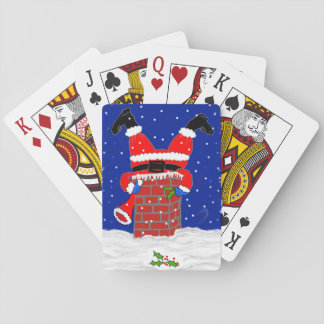 Santa in the Chimney Playing Cards