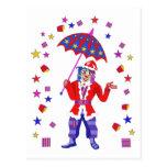 Santa in the shower postcard