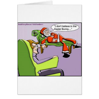 Santa In Therapy Funny Christmas Gifts & Tees Greeting Card