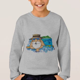 Santa in Waikiki Sweatshirt