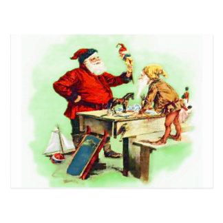 Santa Inspection Postcard