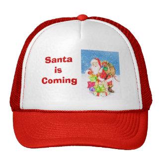 Santa is coming cap
