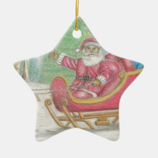 Santa is coming christmas ornament