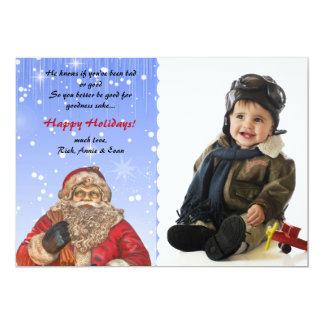Santa is Coming to Town - Photo Holiday Card 13 Cm X 18 Cm Invitation Card