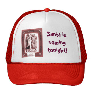 Santa is coming tonight mesh hat