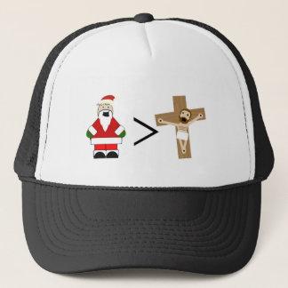 Santa is Greater than Jesus Trucker Hat
